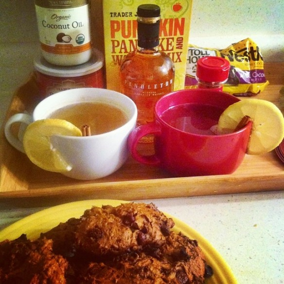 Hot Toddy + Pumpkin Cookies