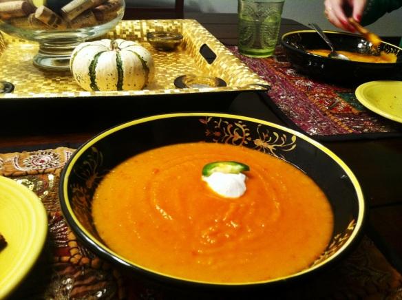 Apple butternut squash soup